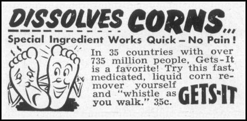 GETS-IT LIQUID CORN REMOVER LIFE 06/16/1952 p. 98