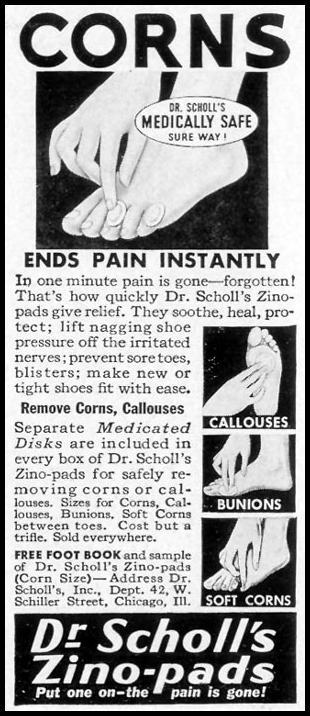 DR. SCHOLL'S ZINO-PADS LIFE 09/27/1937 p. 110