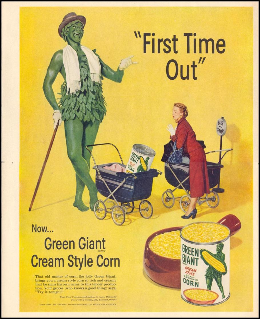 GREEN GIANT CREAM STYLE CORN LIFE 10/13/1952 p. 162
