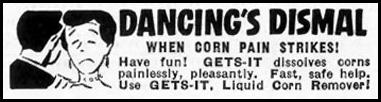 GETS-IT LIQUID CORN REMOVER SATURDAY EVENING POST 09/03/1955 p. 87