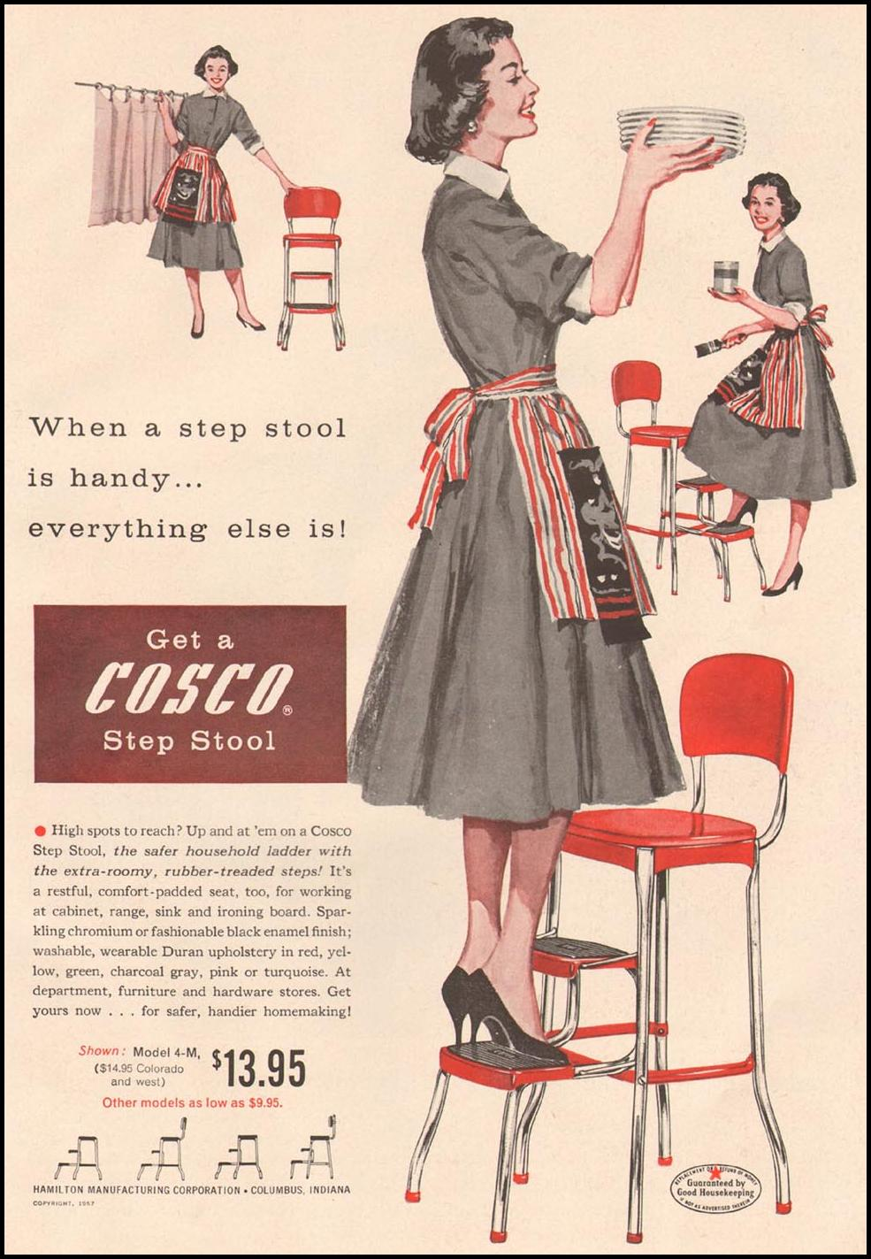 COSCO STOOLS GOOD HOUSEKEEPING 05/01/1957 p. 175
