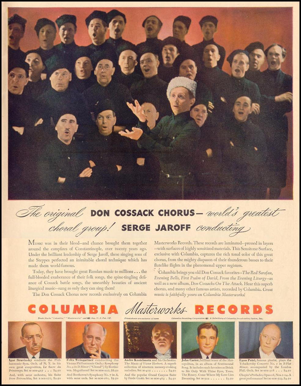 COLUMBIA MASTERWORKS RECORDS LIFE 11/08/1943