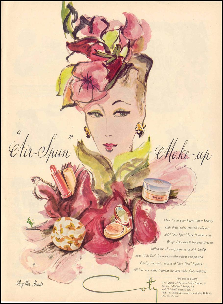 COTY MAKE-UP LIFE 02/14/1944 p. 109