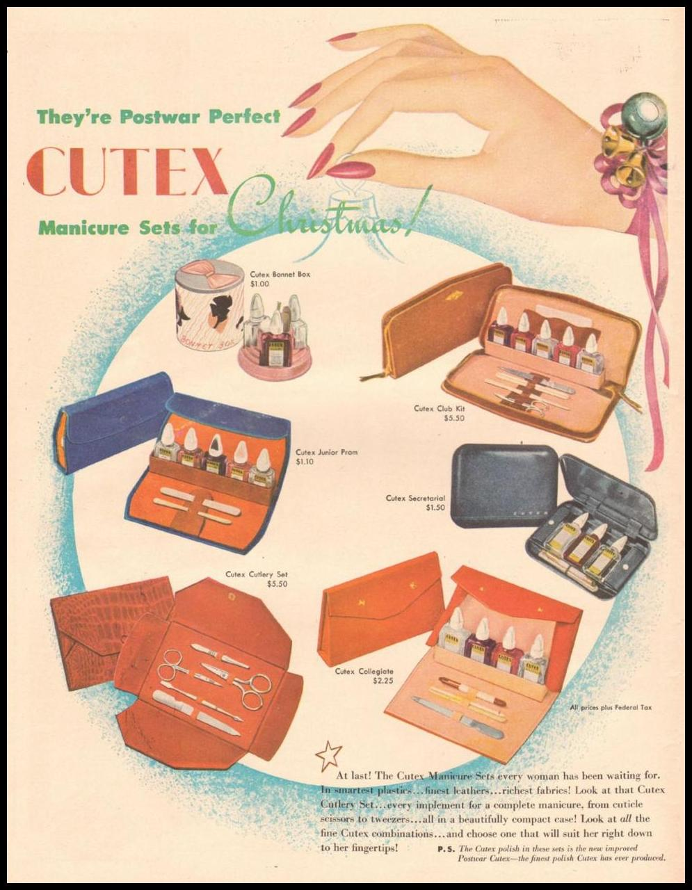CUTEX NAIL POLISH LIFE 11/25/1946