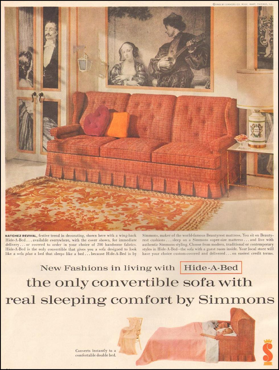 SIMMONS HIDE-A-BED BETTER HOMES AND GARDENS 03/01/1960 p. 26