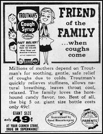TROUTMAN'S COUGH SYRUP LIFE 10/05/1959 p. 164