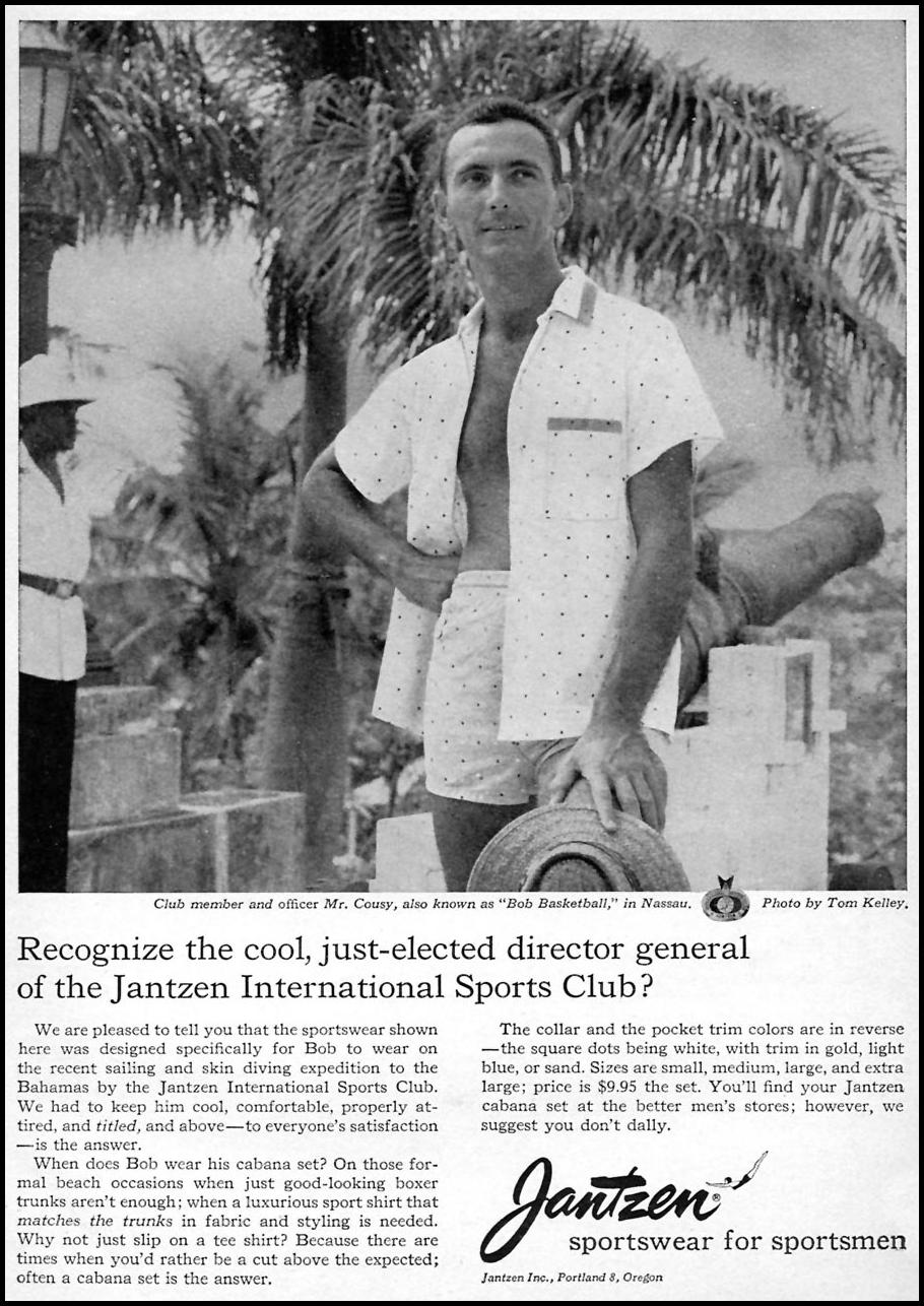 JANTZEN SPORTSWEAR FOR SPORTSMEN SPORTS ILLUSTRATED 04/27/1959 p. 15