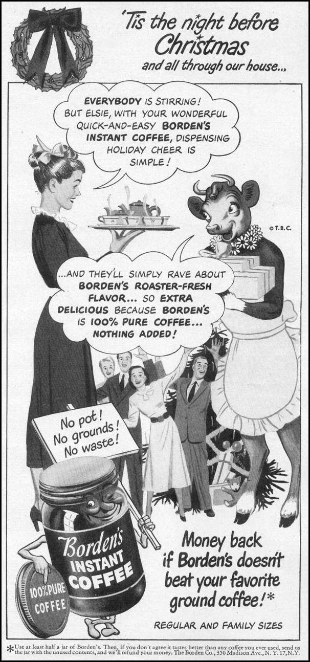 BORDEN'S INSTANT COFFEE WOMAN'S DAY 12/01/1948 p. 77