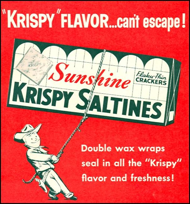 SUNSHINE KRISPY SALTINES FAMILY CIRCLE 02/01/1956 p. 49