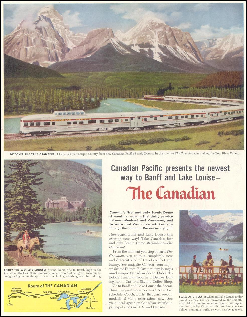 RAIL TRAVEL SATURDAY EVENING POST 06/04/1955 p. 89