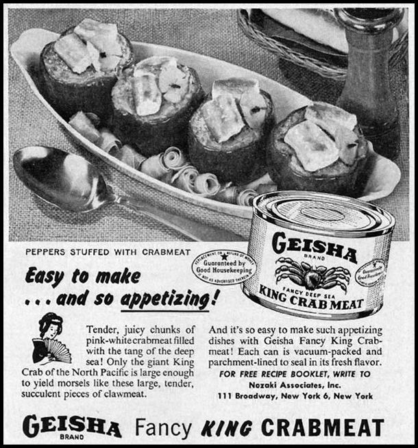 GEISHA BRAND FANCY KING CRABMEAT GOOD HOUSEKEEPING 05/01/1957 p. 239