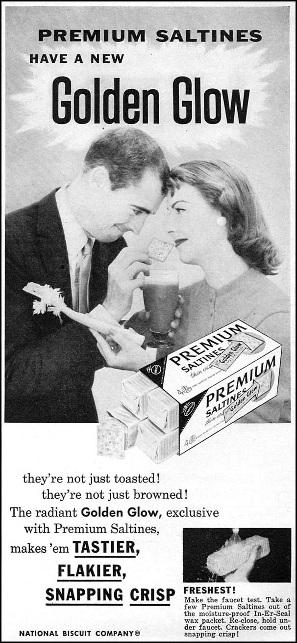 PREMIUM SALTINES WOMAN'S DAY 10/01/1956 p. 117