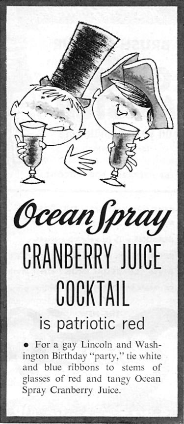 OCEAN SPRAY CRANBERRY JUICE COCKTAIL FAMILY CIRCLE 02/01/1956 p. 83