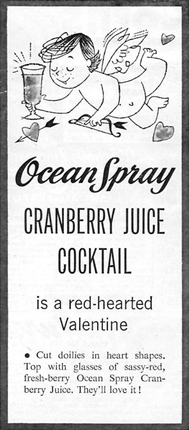 OCEAN SPRAY CRANBERRY JUICE COCKTAIL FAMILY CIRCLE 02/01/1956 p. 84
