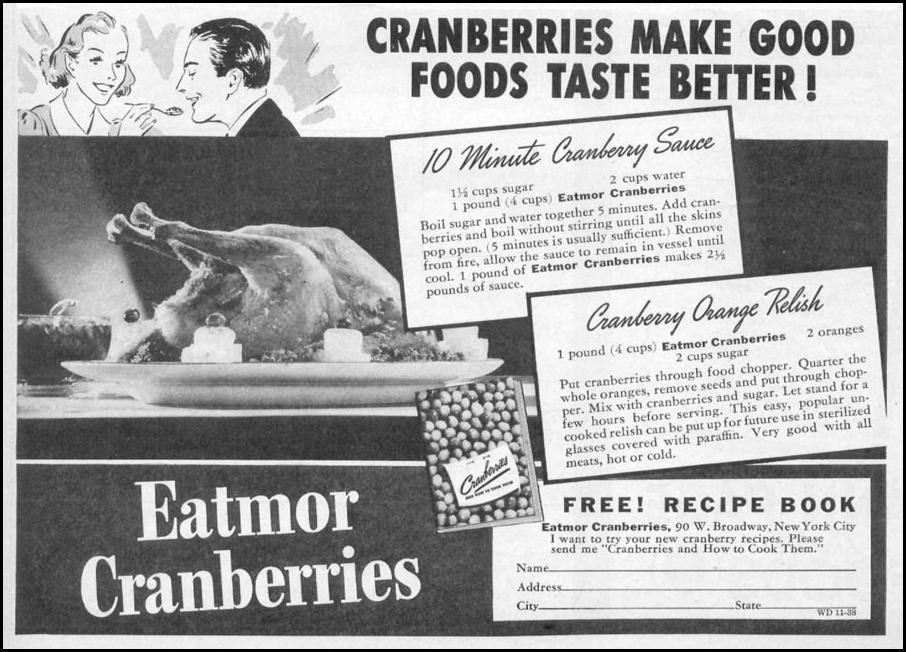 EATMOR CRANBERRIES WOMAN'S DAY 11/01/1938 p. 43
