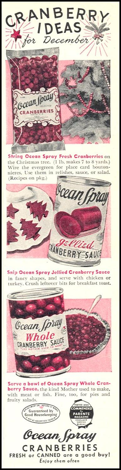 OCEAN SPRAY CRANBERRIES WOMAN'S DAY 12/01/1948 p. 3