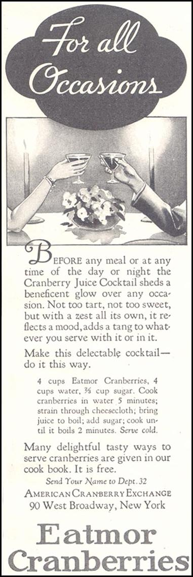 EATMOR CRANBERRIES GOOD HOUSEKEEPING 11/01/1933 p. 218