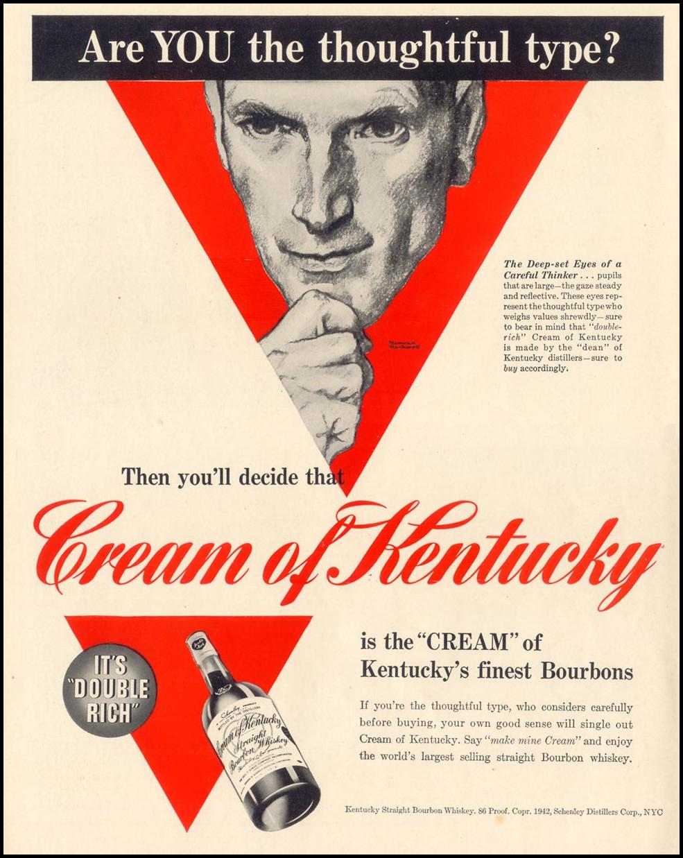 CREAM OF KENTUCKY BOURBON LIFE 06/01/1942