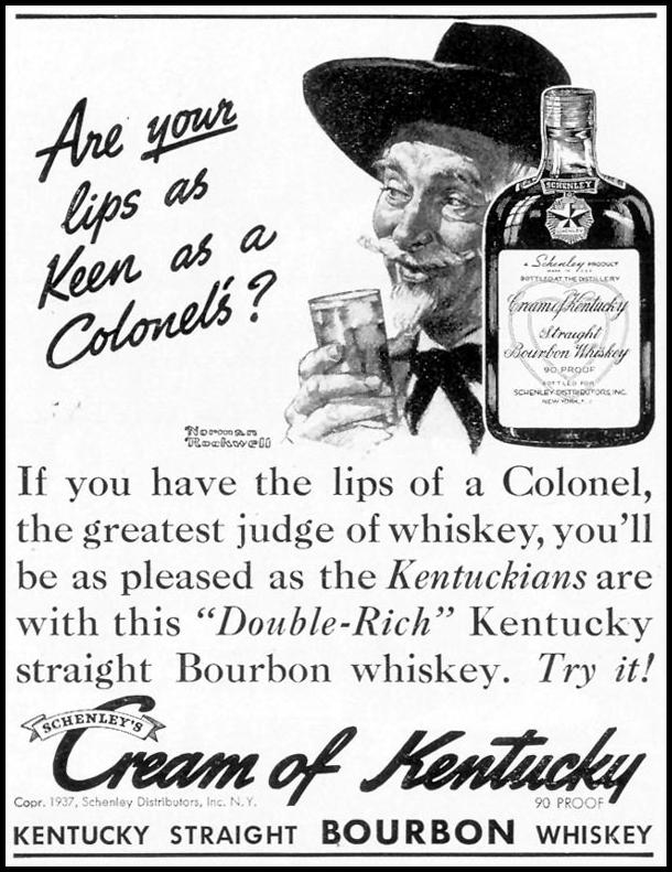 CREAM OF KENTUCKY BOURBON LIFE 08/09/1937 p. 15