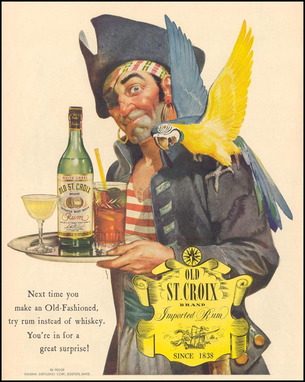 OLD ST. CROIX IMPORTED RUM LIFE 02/28/1944