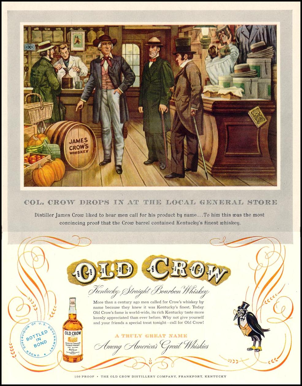 OLD CROW BOURBON WHISKEY LIFE 06/16/1952 p. 41