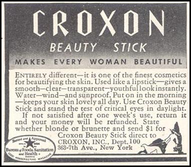 CROXON BEAUTY STICK GOOD HOUSEKEEPING 11/01/1933 p. 213