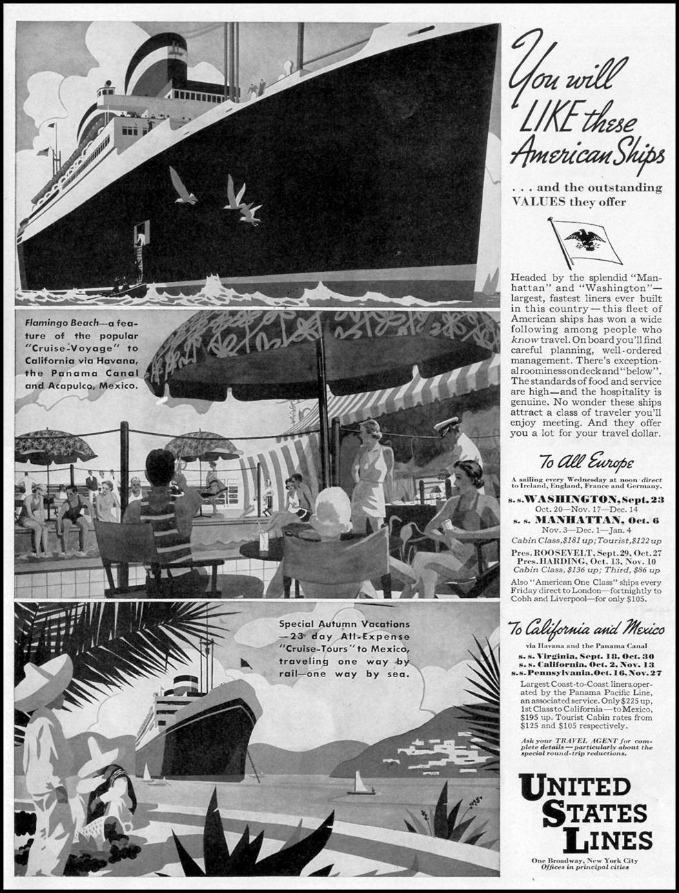 CRUISE VACATIONS LIFE 09/20/1937 p. 113