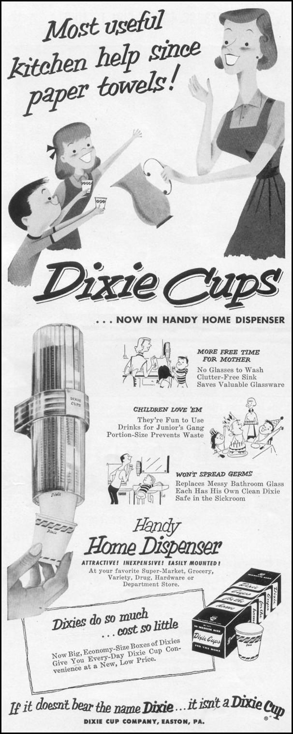 DIXIE CUPS LIFE 10/13/1952 p. 142
