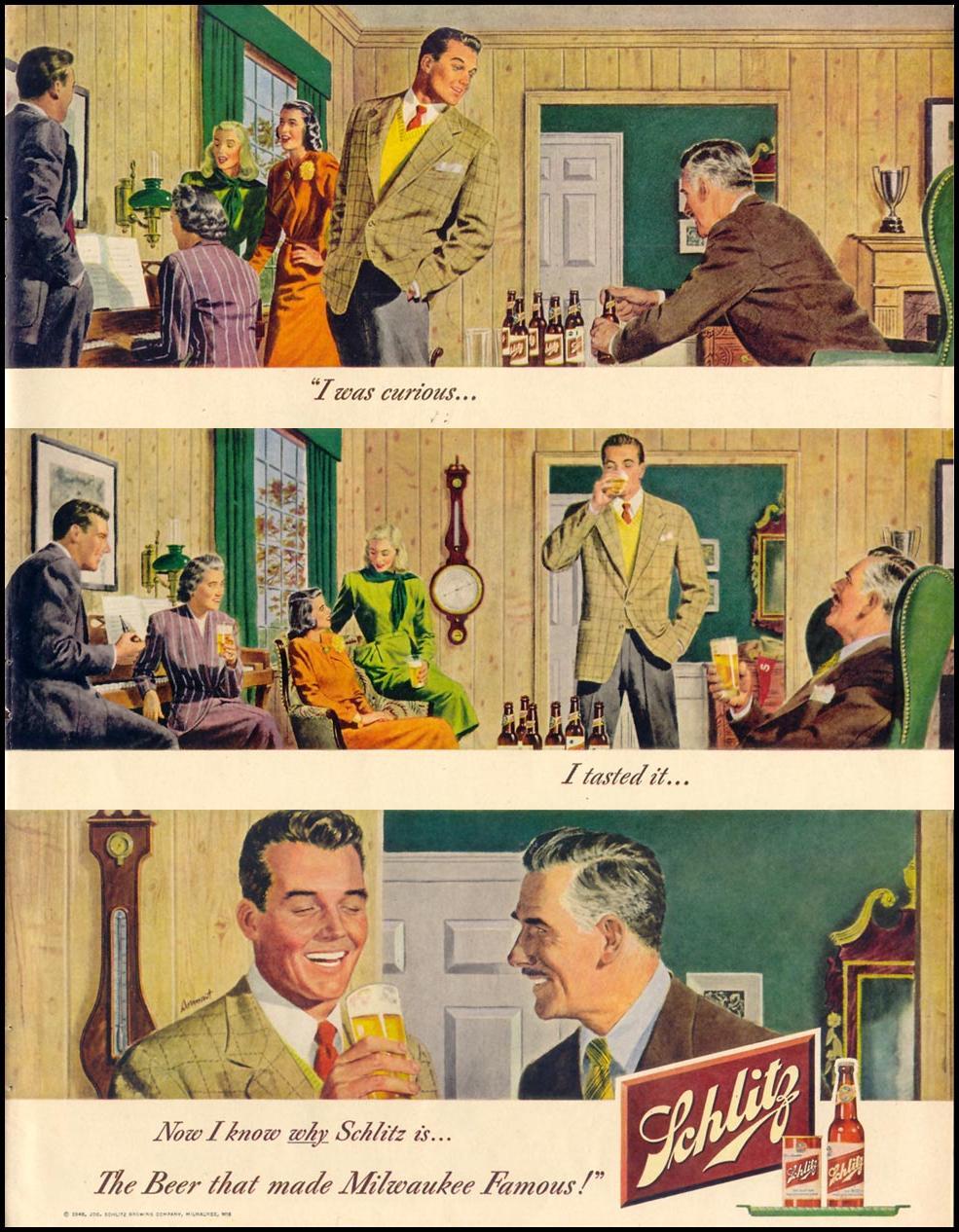 SCHLITZ BEER LIFE 11/15/1948