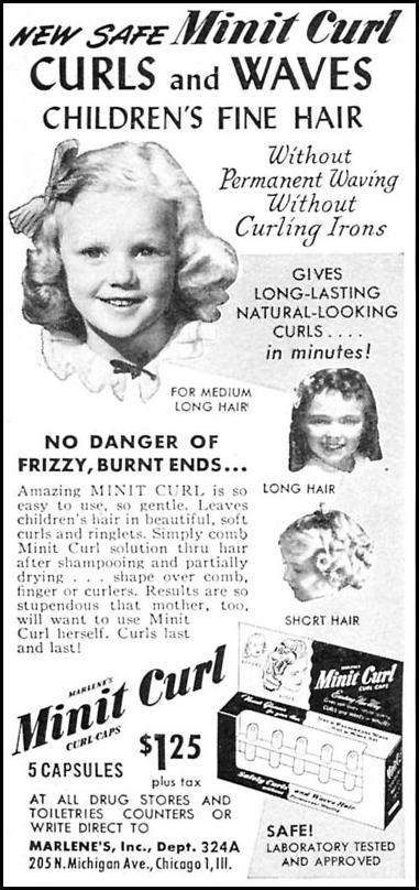 MARLENE'S MINIT CURL WOMAN'S DAY 04/01/1949 p. 128