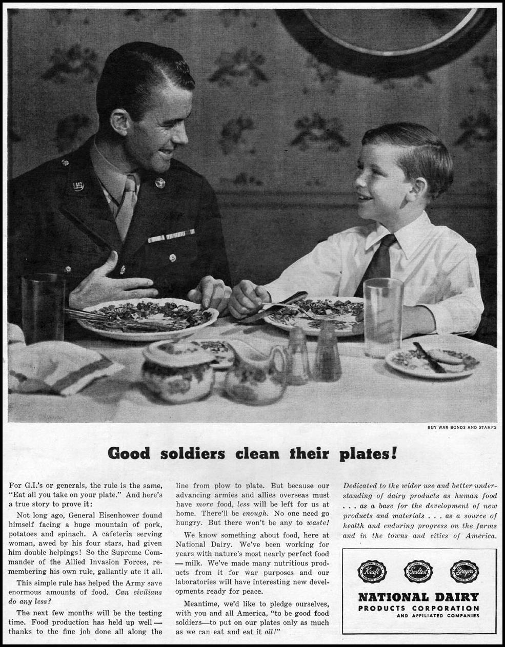 WARTIME FOOD SUPPLIES LIFE 11/13/1944 p. 24