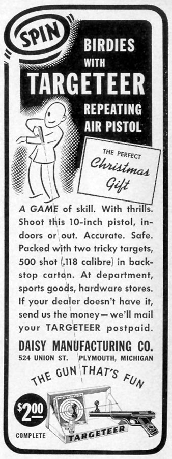 DAISY TARGETEER REPEATING AIR PISTOL LIFE 12/12/1938 p. 70