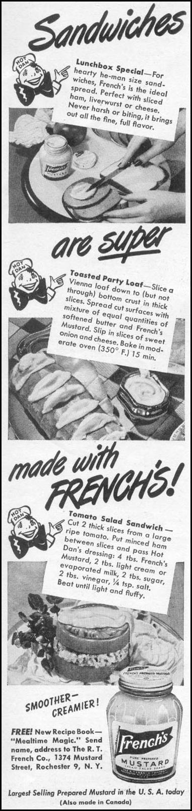 FRENCH'S PREPARED MUSTARD WOMAN'S DAY 05/01/1947 p. 8