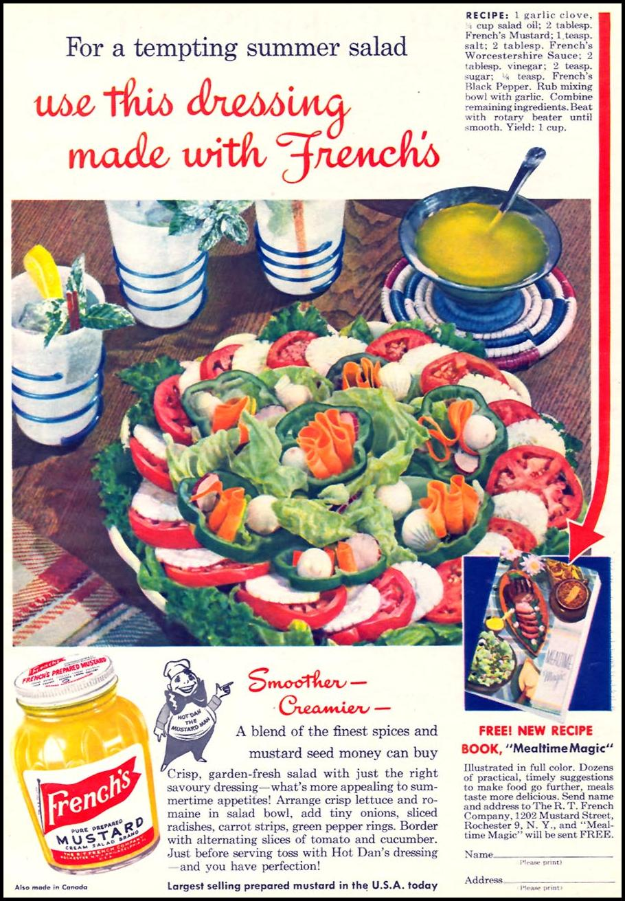 FRENCH'S PREPARED MUSTARD WOMAN'S DAY 07/01/1945 p. 45