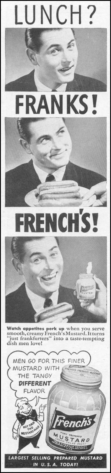 FRENCH'S PREPARED MUSTARD WOMAN'S DAY 09/01/1942 p. 55