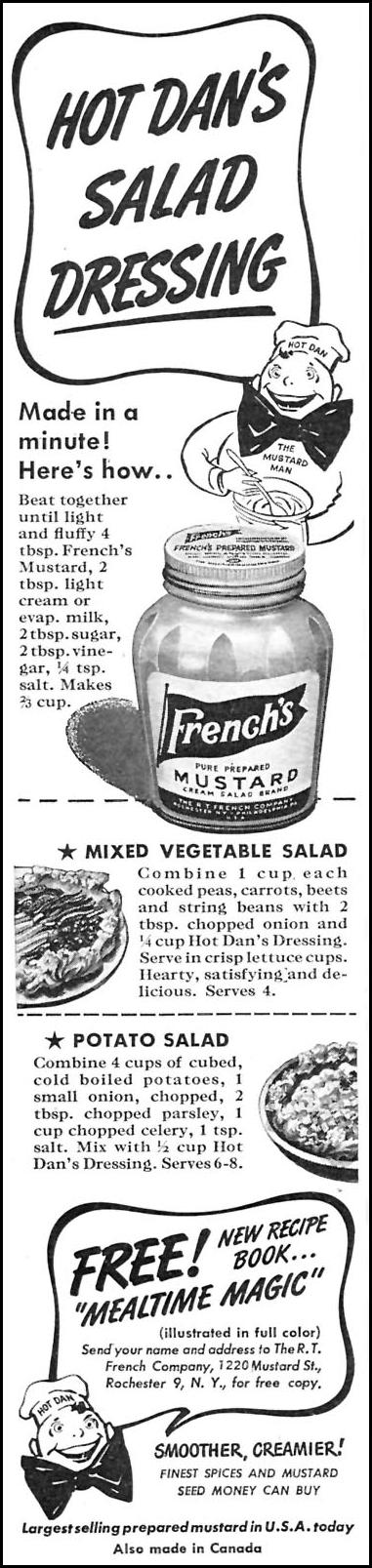 FRENCH'S PREPARED MUSTARD WOMAN'S DAY 09/01/1945 p. 70