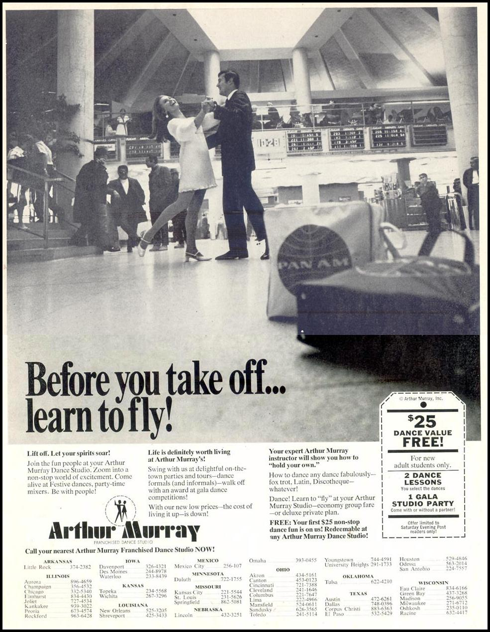 ARTHUR MURRAY DANCE STUDIO SATURDAY EVENING POST 01/25/1969 p. 49
