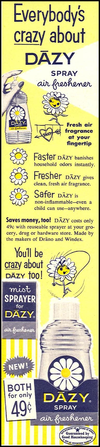DAZY SPRAY AIR FRESHENER FAMILY CIRCLE 01/01/1956 p. 44