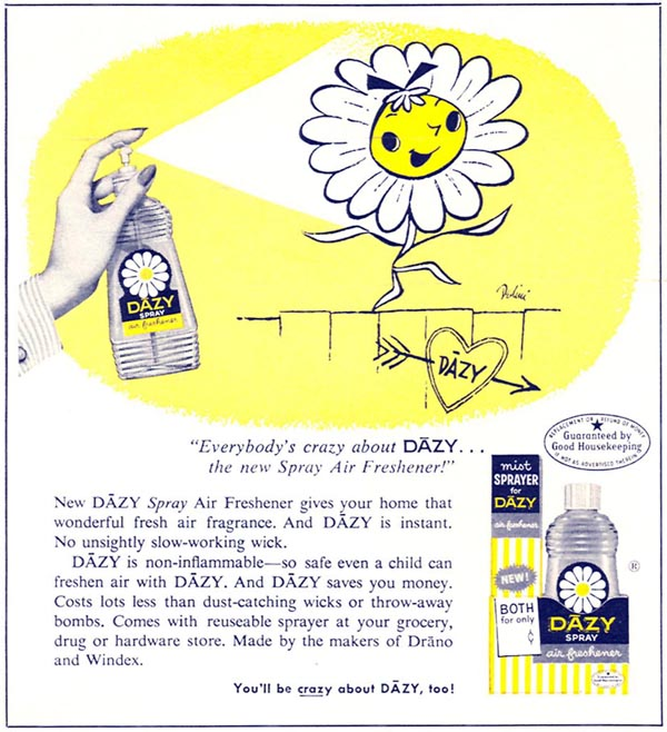 DAZY SPRAY AIR FRESHENER WOMAN'S DAY 04/01/1956 p. 100