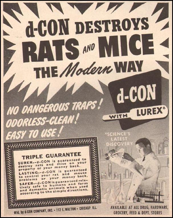 D-CON RAT POISON LIFE 10/01/1951 p. 120
