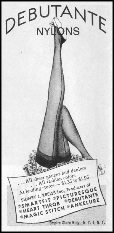 DEBUTANTE NYLONS LIFE 04/08/1957 p. 150
