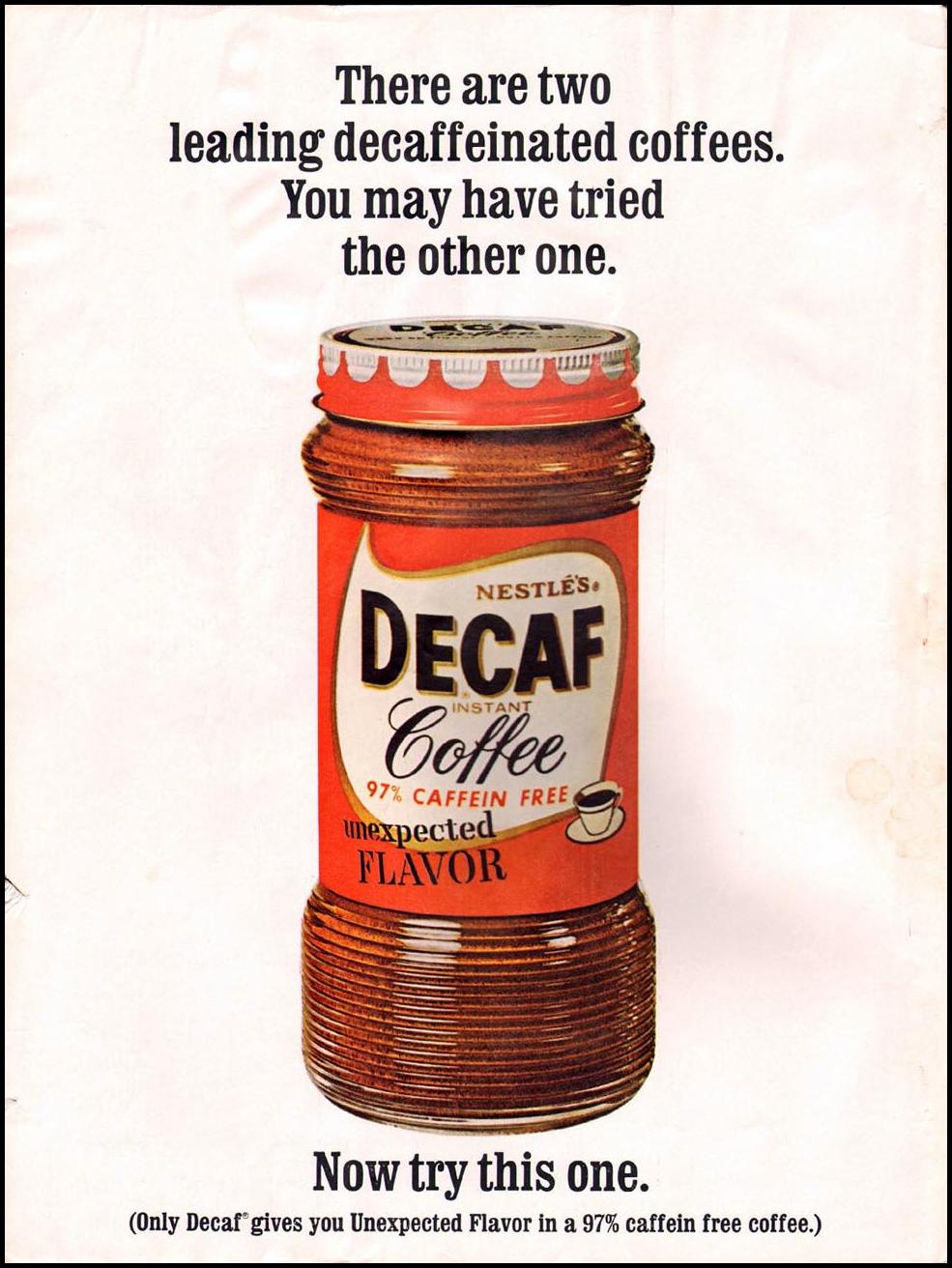 NESTLE'S DECAF COFFEE GOOD HOUSEKEEPING 10/01/1965 INSIDE FRONT