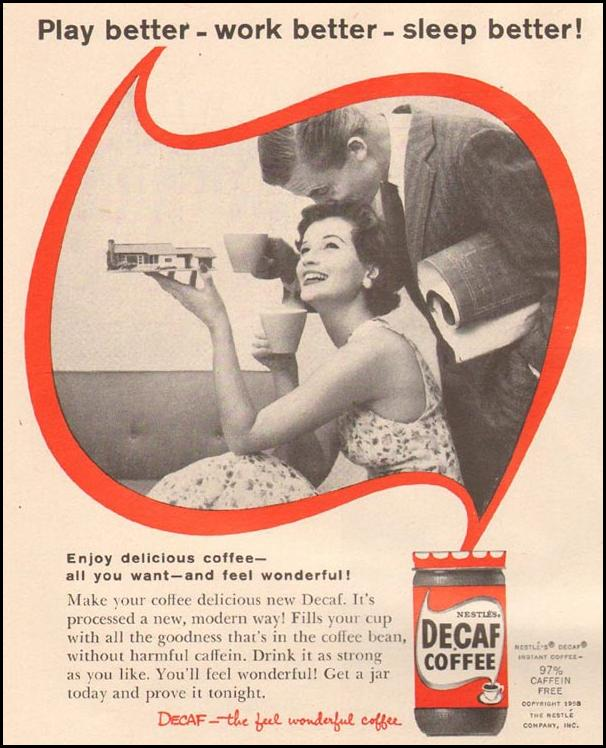 DECAF INSTANT COFFEE LIFE 11/24/1954 p. 144