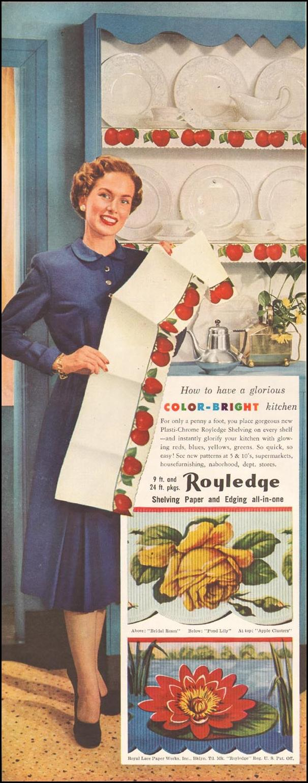 ROYLEDGE SHELVING LADIES' HOME JOURNAL 11/01/1950 p. 112