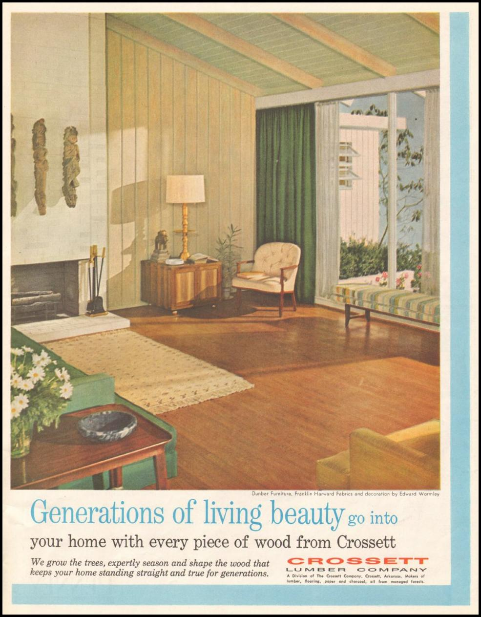 CROSSETT HOME FLOORING SATURDAY EVENING POST 06/11/1960