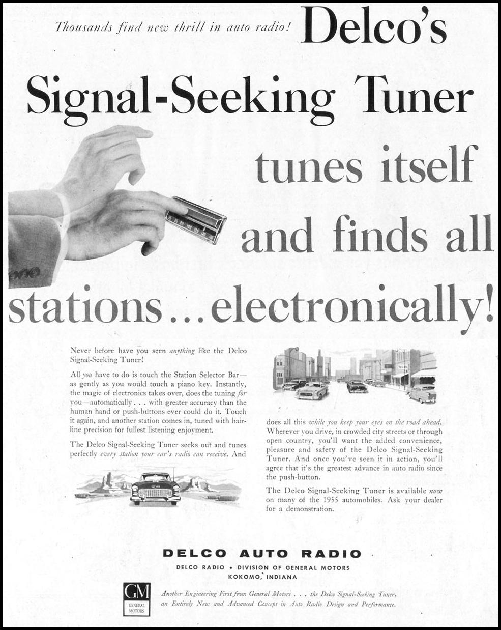 DELCO SIGNAL-SEEKING CAR RADIO SATURDAY EVENING POST 03/26/1955 p. 101