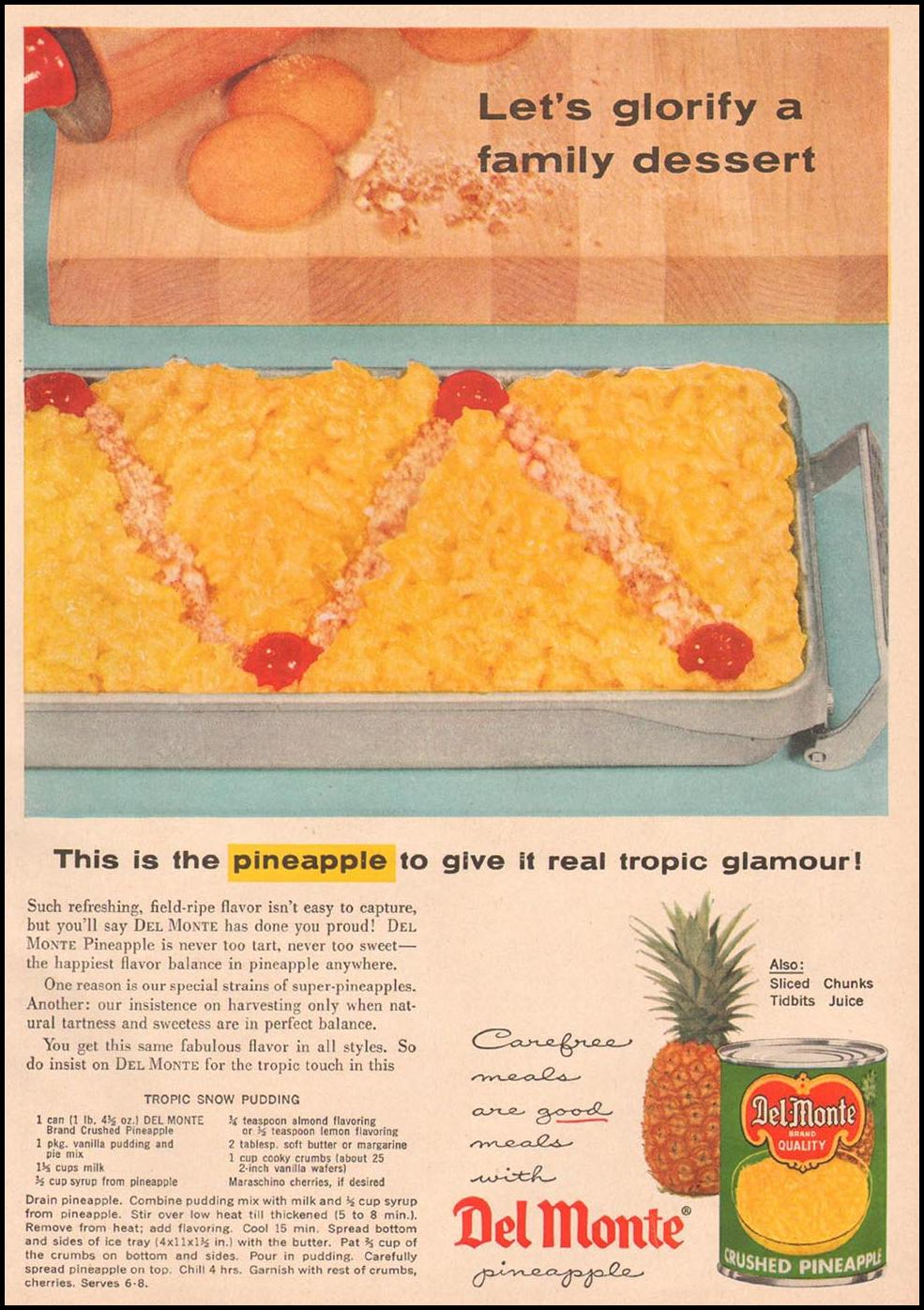 DEL MONTE PINEAPPLE GOOD HOUSEKEEPING 05/01/1957 p. 133