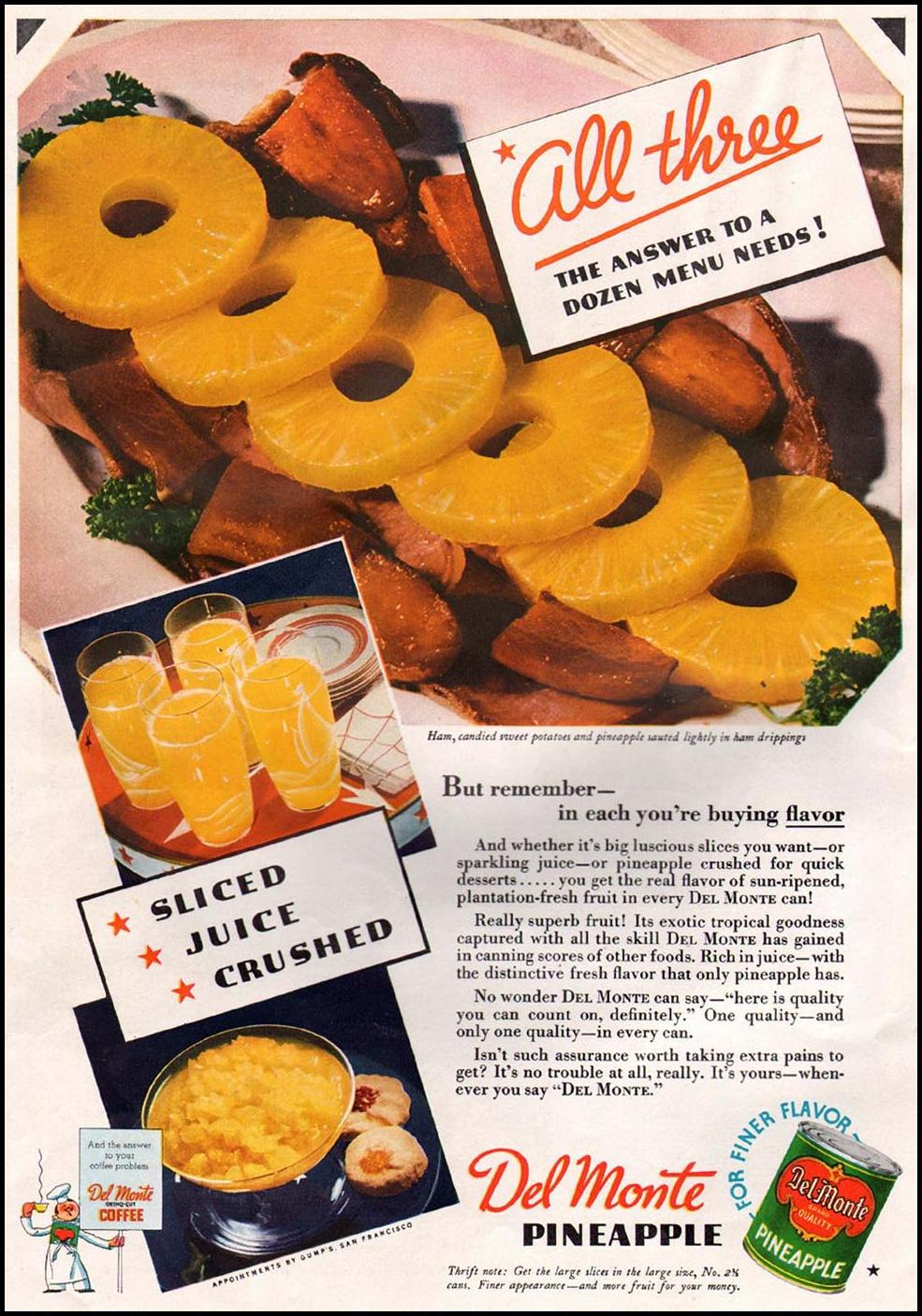 DEL MONTE PINEAPPLE GOOD HOUSEKEEPING 12/01/1935 p. 142