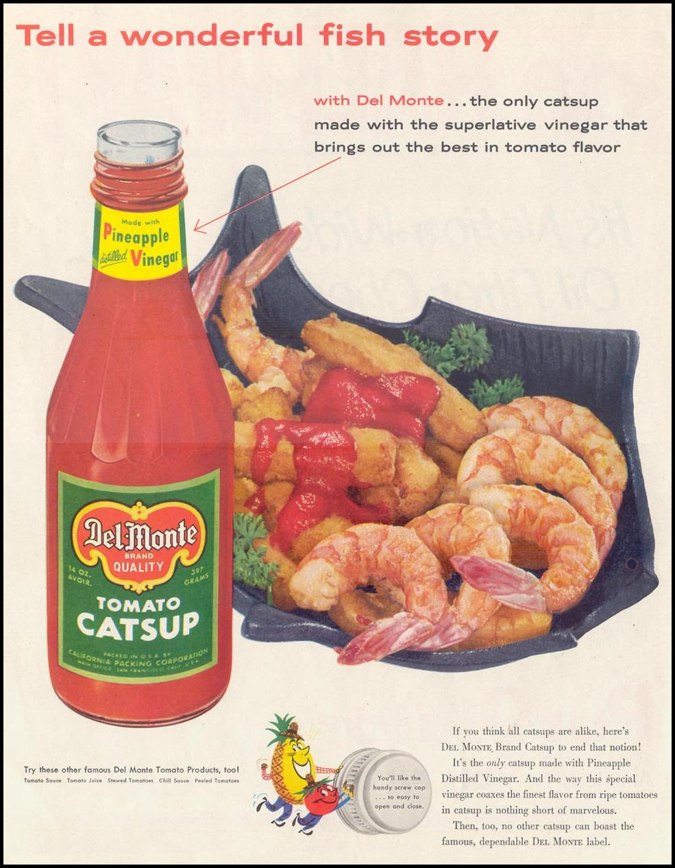 DEL MONTE CATSUP SATURDAY EVENING POST 04/09/1955