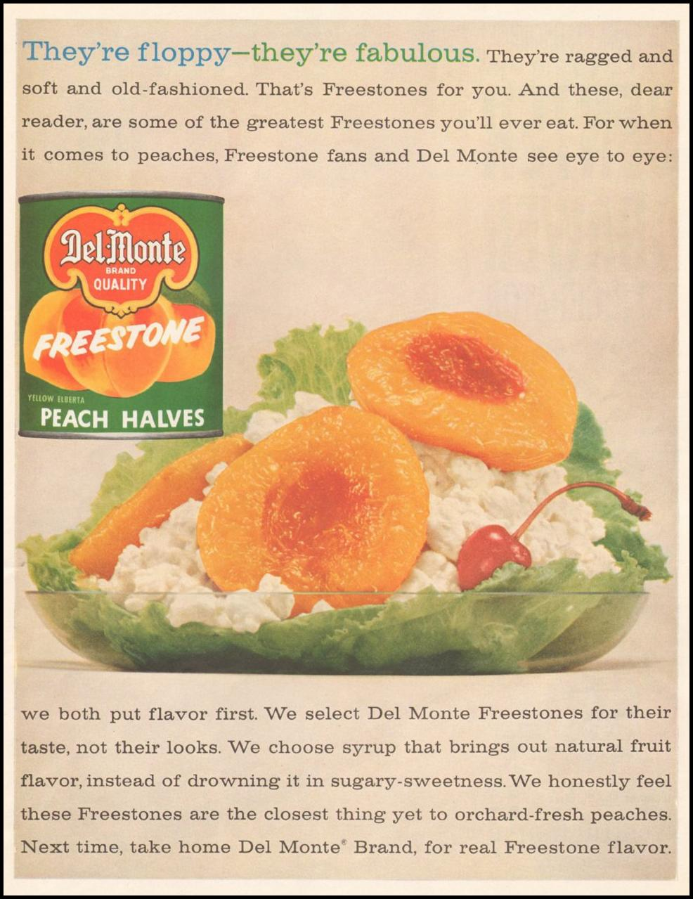 DELMONTE FREESTONE PEACH HALVES SATURDAY EVENING POST 06/11/1960 p. 11